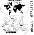 educational illustration with Australian animals 67718493