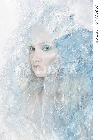 Portrait of an ice girl 67736307