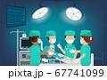 Surgeon team in surgery room 67741099