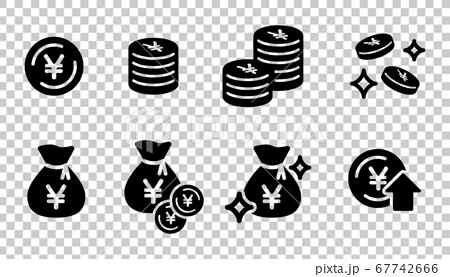 錢圖標集/硬幣/儲蓄/現金袋 67742666