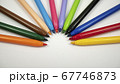 Different colors of felt pens on white background. 67746873