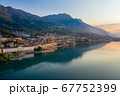 The city of lovere overlooking Lake Iseo 67752399