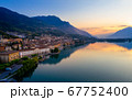 The city of lovere overlooking Lake Iseo at 67752400