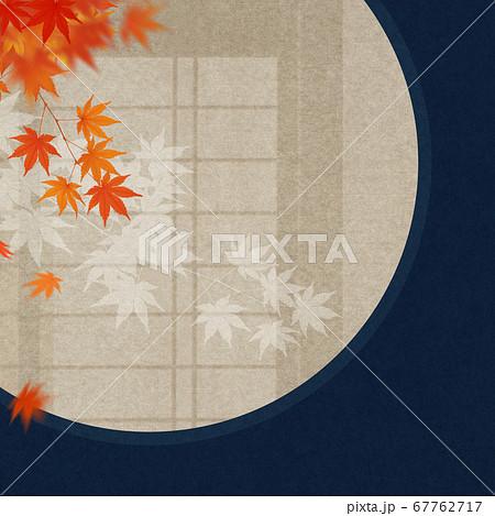 和室をイメージした秋の背景 67762717