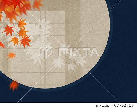 和室をイメージした秋の背景 67762719