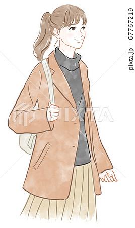 コートを着た女性 67767219