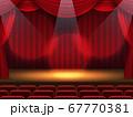 スポットライトに照らされた舞台 67770381