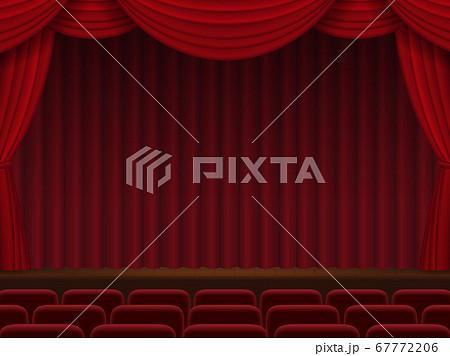 赤い幕が下りた舞台 67772206