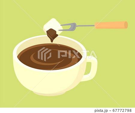 チョコレートフォンデュのイラスト 67772798