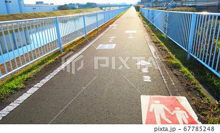 埼玉県川口市の芝川サイクリング道路の風景 67785248