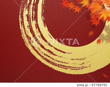 日本の秋をイメージした素材 67789792