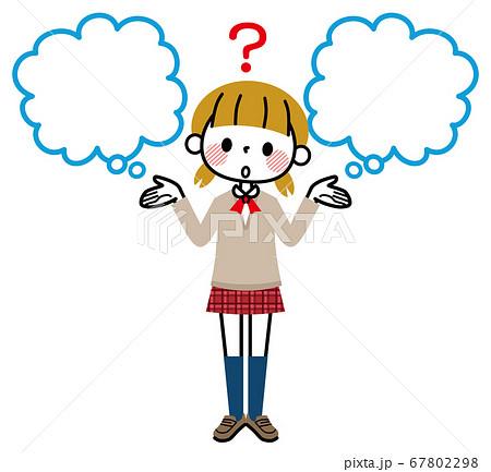 女子学生 選択 吹き出し 疑問 67802298