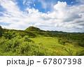 太平洋の島国、パラオ共和国アイメリーク州 丘と草原 67807398