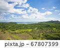 太平洋の島国、パラオ共和国アイメリーク州 高台から湾の眺め 67807399