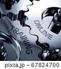 Online training cogwheels metalic concept 67824700