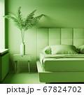 Monochrome green interior 67824702