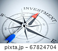 Compass pointing the investment 67824704