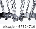 Jigsaw puzzle successful bridge connection 67824710
