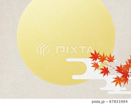 満月と紅葉の背景 67833994