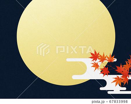満月と紅葉の背景 67833998