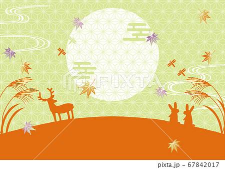 秋の風景 背景イラスト 67842017