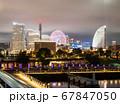 夜の横浜ベイエリア 象の鼻パークとみなとみらい21 67847050