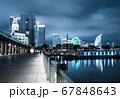 夜の横浜ベイエリア 横浜税関とみなとみらい21 67848643