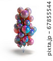 colorful balloons 3d render over white background 67855544
