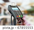 payment by credit card through the terminal 3d 67855553