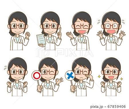 白衣を着た医療関係者の女性 67859406