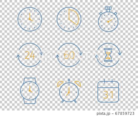 一套簡單的時鐘圖標/計時器/秒錶/時間/鬧鐘 67859723