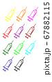 シンプルな注射のイラスト 67882115