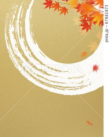 日本風の秋をモチーフにした金色の背景 67882873