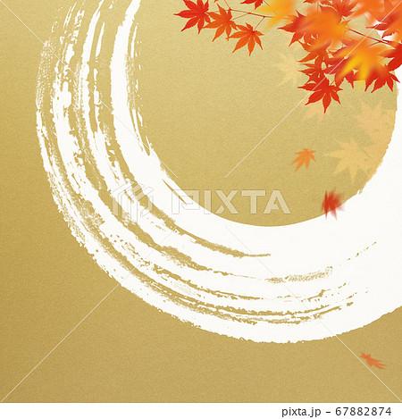 日本風の秋をモチーフにした金色の背景 67882874