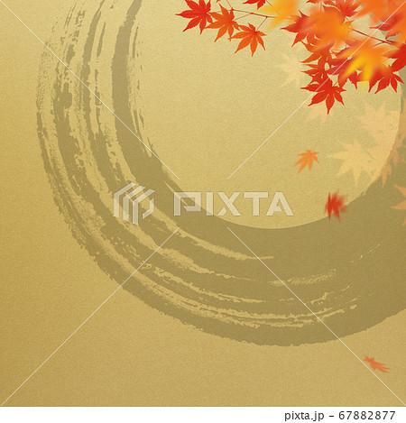 日本風の秋をモチーフにした金色の背景 67882877