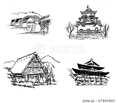 日本の観光地セット 67894803