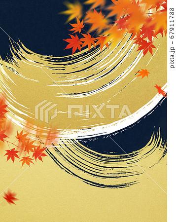 日本の秋をイメージした素材 67911788