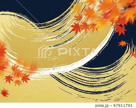 日本の秋をイメージした素材 67911792