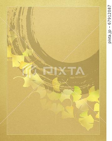 金箔と銀杏の和風素材 67912087