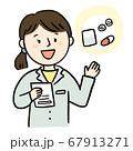 薬を説明する薬剤師 67913271