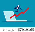 Stock market index up. Business growth and 67919165