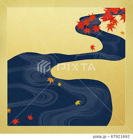 日本の秋を表現した金色の背景 67921692
