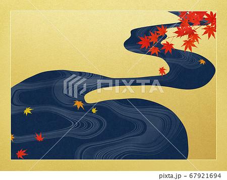日本の秋を表現した金色の背景 67921694