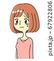 若い女性 表情 泣く イラスト 67922806
