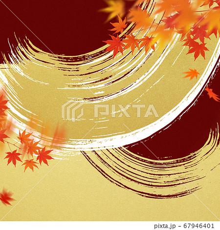 日本の秋をイメージした素材 67946401