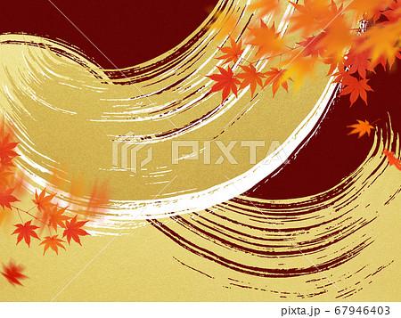 日本の秋をイメージした素材 67946403