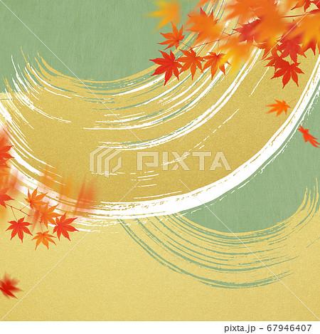 日本の秋をイメージした素材 67946407