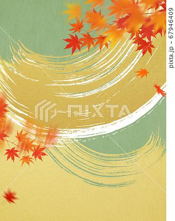 日本の秋をイメージした素材 67946409