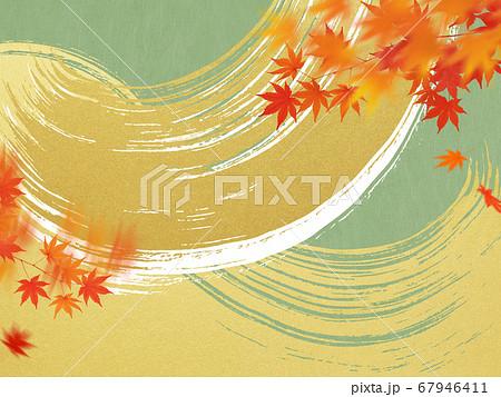 日本の秋をイメージした素材 67946411