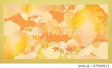 秋の和風背景 67946613